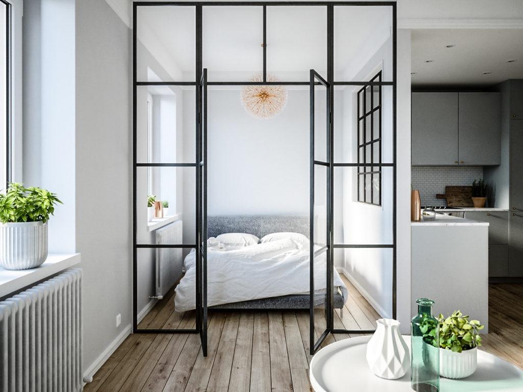 Szklana sypialnia