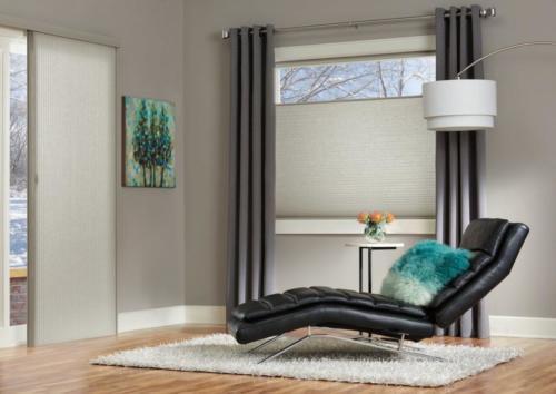 Zasłonięte plisy okienne w sypialni